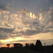 Gite nord les prairies maresches coucher de soleil aout