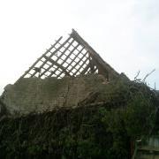 La façade de notre futur gîte les Prairies avant demolition 2011